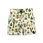 Brixton Mfg Co. Plank Men's Boardshorts Cream/Green Street/Skate/Casual