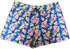 Ladies Womens Cotton Jersey Tropical Floral Elasticated Waist Holiday Shorts
