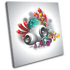 Abstract Speakers Illustration SINGLE CANVAS WALL ART Picture Print VA