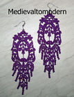 NEW~~Hand Made LONG Your Color Lacy Light Venise Lace Victorian Earrings NEW 5""