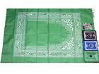 BRAND NEW AND CHOICE OF COLOUR Islamic Prayer mat with compass
