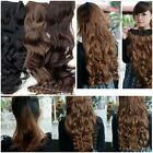 Fashion Full Head Clip Curly/Wavy Womens Girl Synthetic Hair Extension 3 Colors