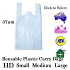Plastic Carry Bag HD White Singlet Shopping Check Out Small Medium Large 2.7kg