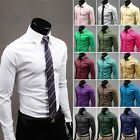 New Mens Luxury Stylish Casual Dress Slim Fit Shirts 17Colours 5Size USCC780