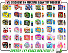 Official Kids Character Insulated Lunch Bag Sandwich Box and Bottle Xmas Gift