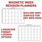 Magnetic Dry Wipe Revsion Week Planners + Dry Wipe Pen 7 Day Planner