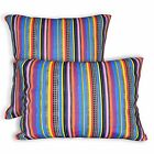 ak333a Pink Blue Purple Yellow Stripe Cotton Canvas Cushion Cover/Pillow Case