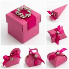Luxury DIY Wedding Christening Favour Gift Boxes Fuchsia Silk Range