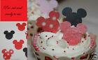 24 Pre cut Edible minnie, mickey mouse cake decorations red Any 4th free