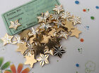 Vintage Metal Star embellishments 60's Pack 12 15mm Craft Jewellery Post Free