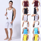 Men Muscle Tee Gym Vest Boxing Sprot Athletic Apparel Jersey T-Shirts Tank Tops