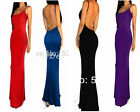 Summer Sexy Women Evening Party Wedding Ball Gown Backless Long Maxi Dress Y114