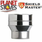 Stainless Steel Shieldmaster Adapter Single To Twin Wall Insulated Flue Pipe
