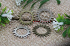 Free Shipping 15pcs Antique Silver,Bronze Filigree Gear Charms Pendant 23mm