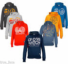 Mens Crosshatch Brand Printed Pullover Hoody Sweatshirt Hooded Top Collection