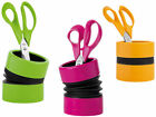 Pencil Pen Pot Stationery Desk Tidy Bright Colour Plastic Flexible Unique Design