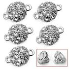 5 Pcs Round Crystal Rhinestone Strong Magnetic Clasps Jewelry Findings 9mm