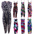 Girls Jumpsuits All In One Floral,  Aztec Printed Long Playsuits 7-13 Years