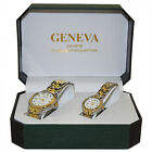 Geneva His and Her A3 Series Stainless Steel Watch Set