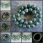 H0849-1473 Wholesale Green Point Stone Ball Loose Beads 15""