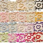 Pearlized Beaded Heart Rhinestones Scrapbooking Card Making Craft