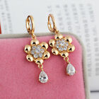 Attractive 14K Gold Filled Crystal Flower Lady Hoop Earring gold filled dangle