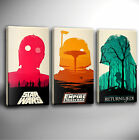 STAR WARS TRILOGY - MULTI PANEL GICLEE CANVAS ART *Choose your size