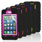 New Hard Shock Proof Amour Tough Gel Case Cover For iPhone 4S 4G 5S 5G FREE Film