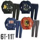"2Pcs NWT Vaenait Baby Junior Kid Boy Clothes In Door Sleepwear Pajama Set ""Earth"
