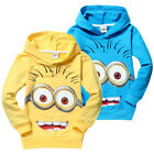 Cute Costume Despicable Me Minions Kids Boys Girls Hoodies Coat Clothes 2-8Y
