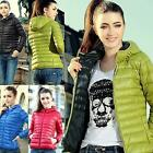 Fashion Women Winter Warm Candy Color Thin Slim Down Coat Jacket Overcoat SWTG