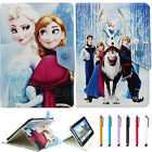 Universal Cartoon Frozen Leather Folio Case Stand For 9.7-10.1 inch Tablet PC