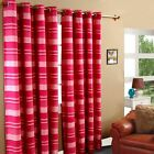Morocco Striped Ready Made Eyelet Curtain Pink Kids Decorative Curtains Ring Top