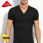 Mens Micro Modal V-Neck Short Sleeve T-Shirt Undershirt Fit Slim Tees YU5563