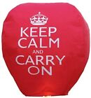 Flying Chinese Sky Lanterns - Keep Calm and Carry On, Union Jack and Colours