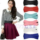 Women's Lady Butterfly Bow Elastic Slim Waistband Wide Stretch Belt