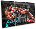 Boxing Floyd Mayweather Sports TREBLE CANVAS WALL ART Picture Print VA