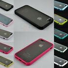 PC Hard & Soft Gel With Matte Clear Back Cover Case for Apple iPhone