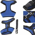 Safety Soft Pet Mesh Vest Harness Padded Puppy Leash Included Dog NEW