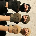 Soft Half Finger Tactical Gloves Outdoor Sports Hunting Riding Fingerless Gloves