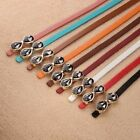New Womens Multicolor Waistband Bowknot Leather Thin Skinny Buckle Waist Belts