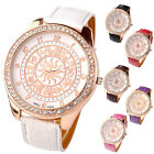 Women's 12-Constellation Pattern Crystal Rose-Gold Tone Dial Quartz Analog Watch