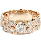 2.00 cttw Vintage Rose Gold Diamond Engagement Ring Filigre Deco Style 14K