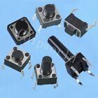 50pcs Tact Switch Connector Pushbutton Black Press Key 6×6×H9mm 12x12x8mm new