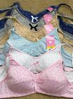 LOT Heart Polka Dot COTTON Love Kid Girl Junior Wire Free Training Bra - A CUP