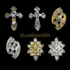 10PCS Bling Crystal Rhinestone 3D Nail Art Alloy Decoration Phone Making Craft