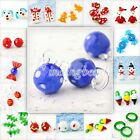 15 Style Lampwork Glass Gift Candy Snowman Beads Charms Pendant Necklace Chain