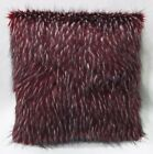 Fq867a Dark Red Thick Long Plush Faux Fur Cushion Cover/Pillow Case*Custom Size*