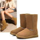Hot Design Winter Women Girls Ladys Mid Calf Warm Snow Boots Shoes Camel 5 Size