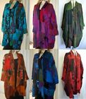 Boho Patchwork Coat Jacket Robe 14 16 18 20 22 24 26 28 Swirl Clothing Hippy